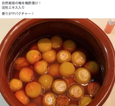 バクチャーの梅酢漬け